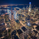 Aerial View of San Francisco Skyline at Night - PhotoDune Item for Sale