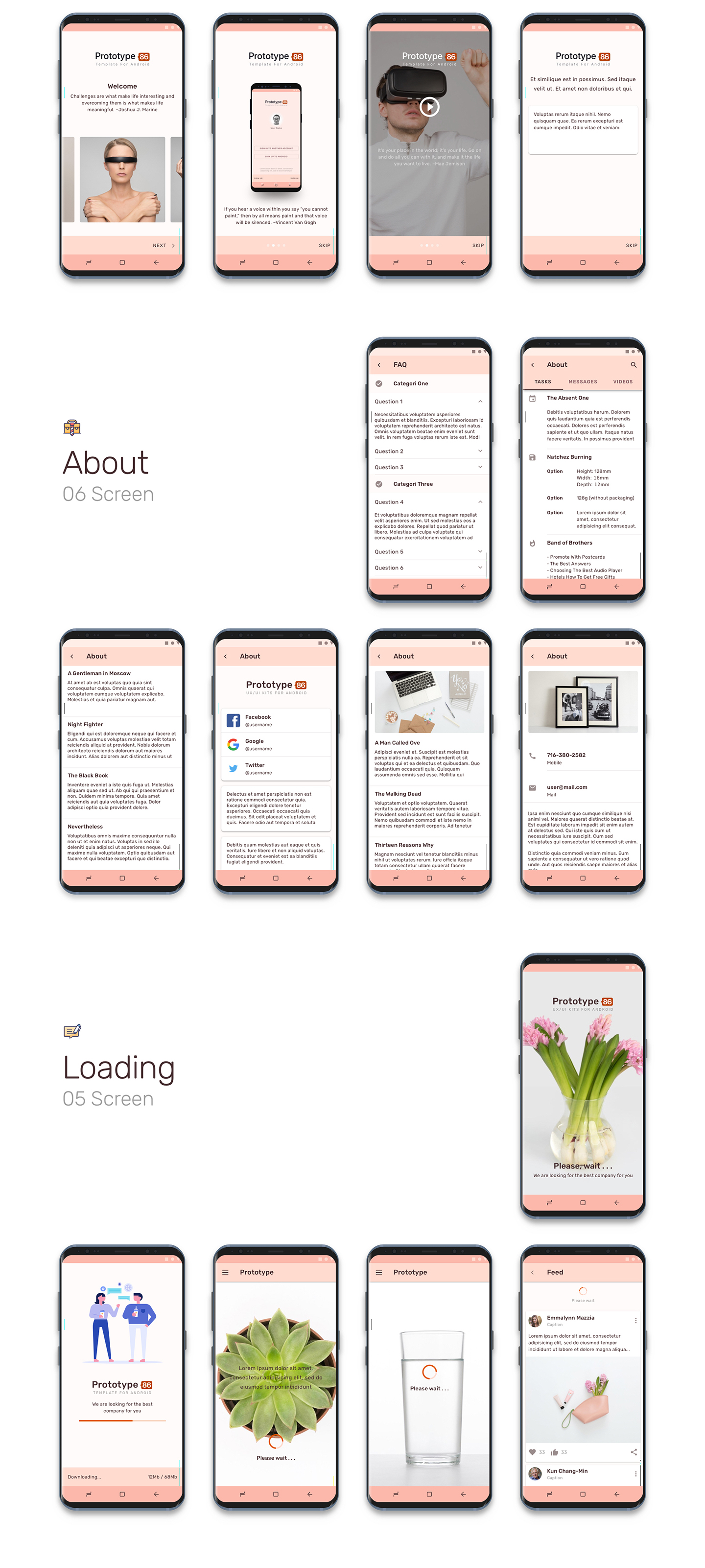 Prototype 86 - Template For Android - 3