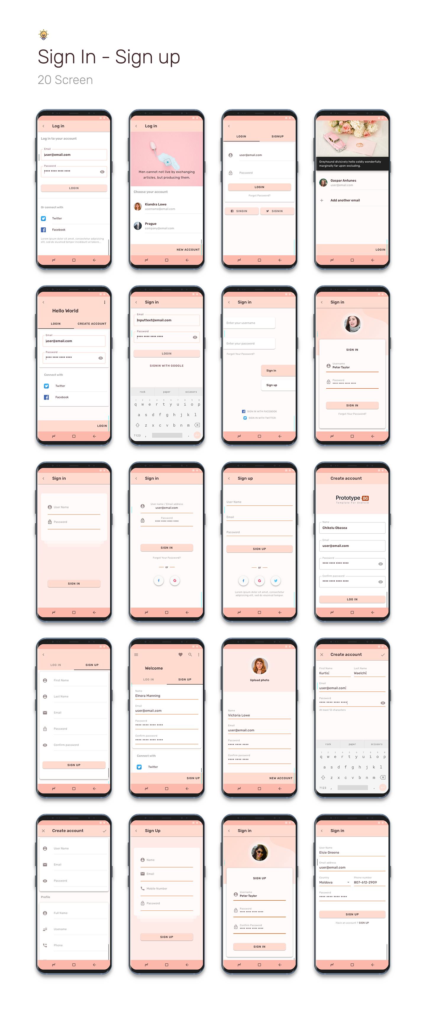 Prototype 86 - Template For Android - 4