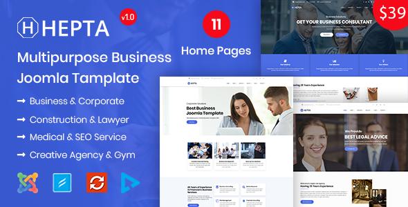 Hepta - Multipurpose Business Joomla Template
