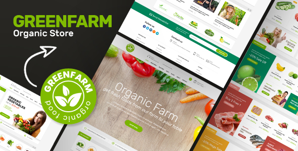 Greenfarm - Organic Food eCommerce Shopify Theme