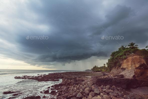 Ocean coast on Bali - Stock Photo - Images