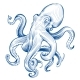Vintage Octopus. Hand Drawn Squid Engraved Ocean - GraphicRiver Item for Sale