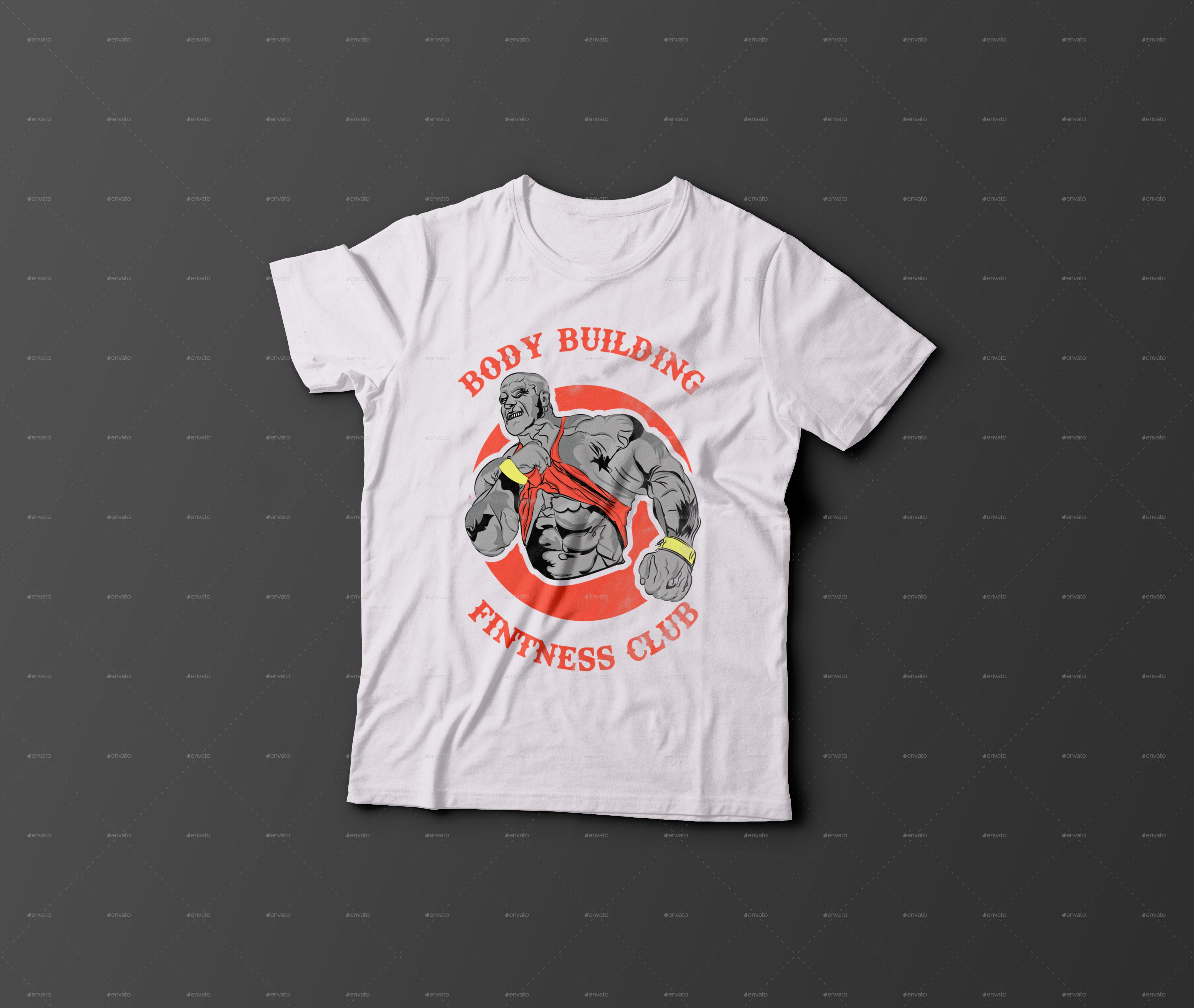 Bodybuilder T Shirt Design By Ashish666 Graphicriver