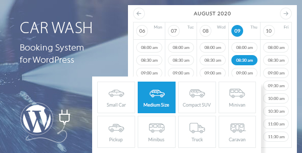 Car Wash Booking System For WordPress - CodeCanyon Item for Sale