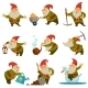 Gnome with Mining Instrument for Gold - GraphicRiver Item for Sale