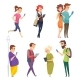 Characters with Gadgets. Man Woman Kids Internet - GraphicRiver Item for Sale