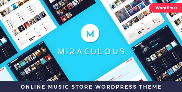 Miraculous - Online Music Store WordPress Theme - Entertainment WordPress