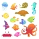 Underwater Animals. Ocean Sea Animals Fish Octopus - GraphicRiver Item for Sale