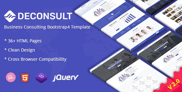 Deconsult - Business Consulting Bootstrap4 Template + RTL