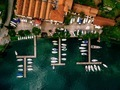 Aerial view of sea landscape with boats in marina bay in Italy. - PhotoDune Item for Sale