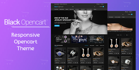 Free Download Black Opencart Template Nulled Latest Version