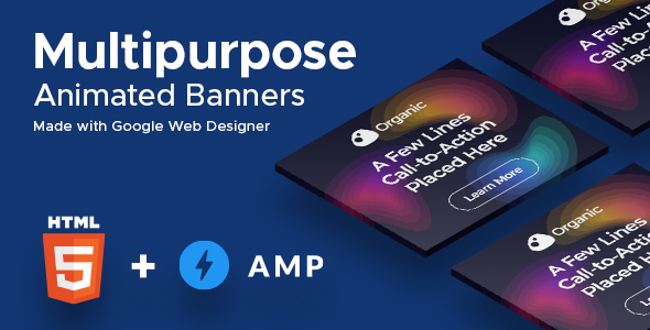 Organic (2-in-1) - Multipurpose HTML5 & AMPHTML Animated Banners (GWD)