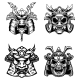 Set of Samurai Masks and Helmets - GraphicRiver Item for Sale