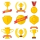 Set of Winner Emblems in Flat Style - GraphicRiver Item for Sale