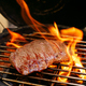 A Piece of Juicy Beef on an Open Fire - PhotoDune Item for Sale