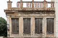 Ruined facade of an abandoned neoclassical building in old town of Plaka, Athens, Greece - PhotoDune Item for Sale