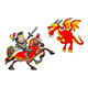 Knight on Horse Fighting the Dragon - GraphicRiver Item for Sale