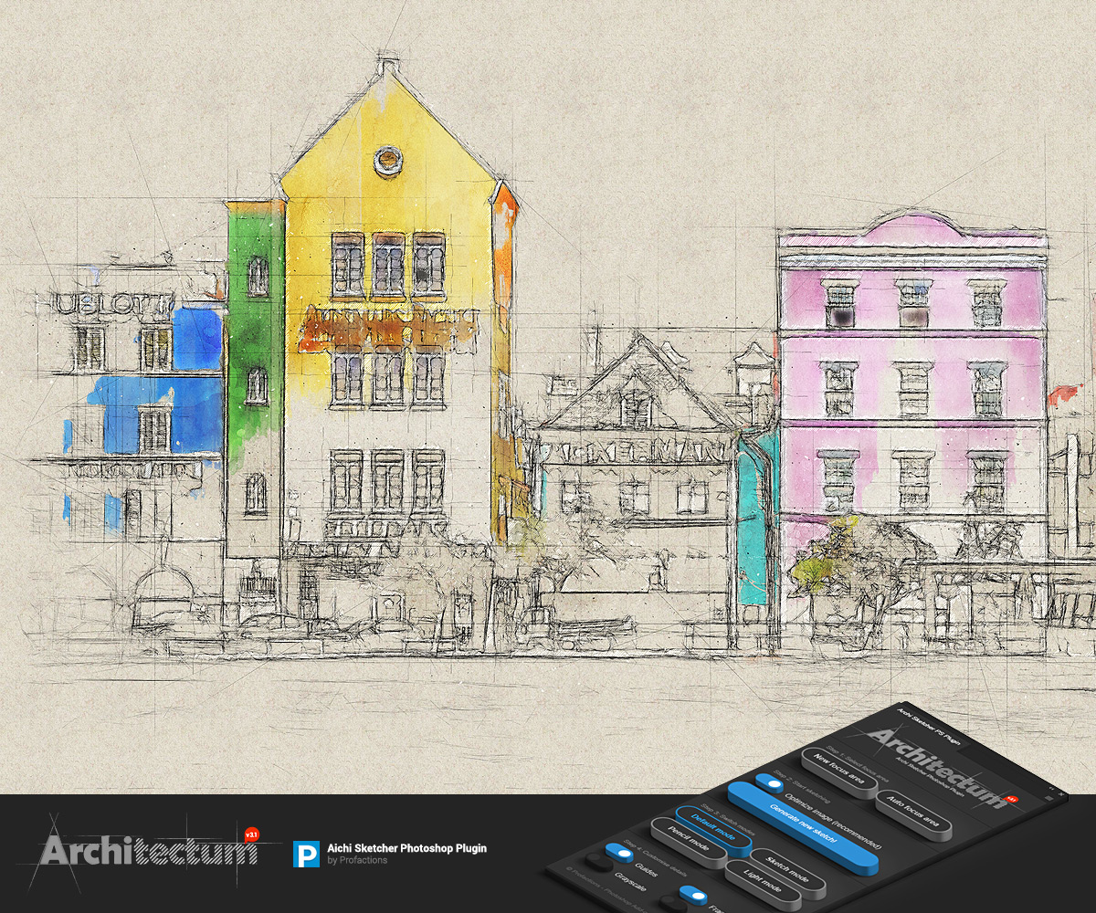 Archi Sketch - Architectum 3 - Photoshop Plugin