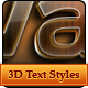 3D Glowing Text Styles - GraphicRiver Item for Sale