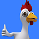 Cartoon Rooster Chicken Giving a Thumbs Up (4-Pack) - VideoHive Item for Sale