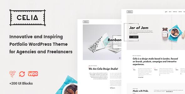 Celia - Innovative and Inspiring Portfolio WordPress Theme for Modern Agencies and Freelancers - Portfolio Creative