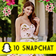 10 Multi Purpose Snapchat Set - GraphicRiver Item for Sale