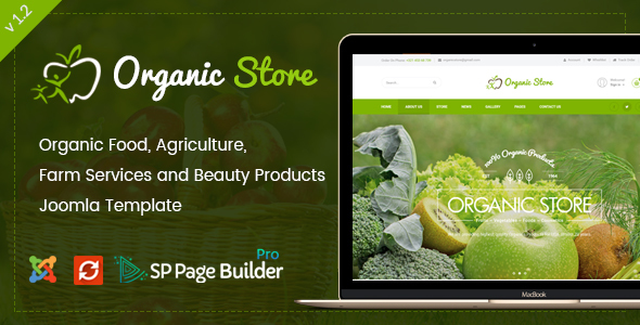 Organic Store - Responsive Joomla Ecommerce Template - Food Retail