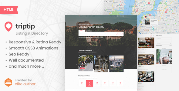 TripTip - Listing & Directory HTML5 Template by Nunforest