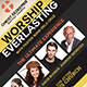Worship Everlasting Church Flyer - GraphicRiver Item for Sale