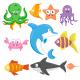 Set of Sea Animals Cartoon Vector Illustration - GraphicRiver Item for Sale