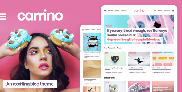 Carrino -  An Exciting Blog Theme - Personal Blog / Magazine