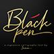 Black Pen Script