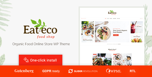 Eat Eco - Healthy & Organic Food Shop WooCommerce Theme - WooCommerce eCommerce