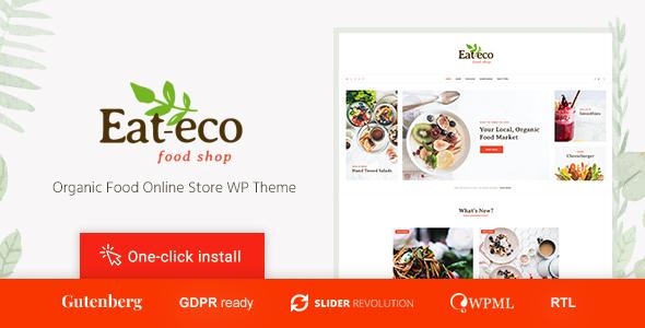 Eat Eco - Healthy & Organic Food Shop WooCommerce Theme