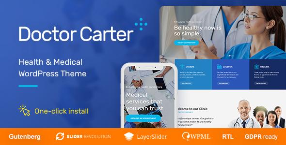Doctor Carter - Medical WordPress Theme - Health & Beauty Retail