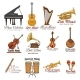 Musical Instrument Symbol Set for Music Design - GraphicRiver Item for Sale