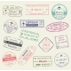 Passport Stamp of Travel Visa Isolated Set Design - GraphicRiver Item for Sale