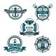 Nautical Retro Badge Set - GraphicRiver Item for Sale