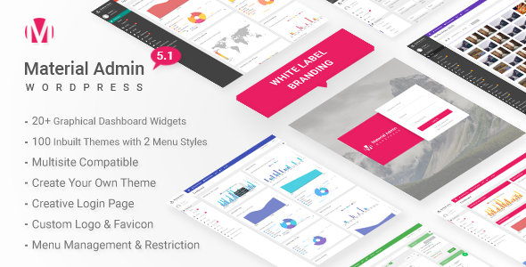 Material - White Label WordPress Admin Theme - CodeCanyon Item for Sale