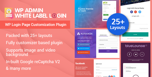WP Admin White Label Login - WordPress Plugin For Advanced Customizable Login page - CodeCanyon Item for Sale