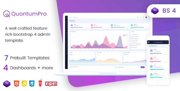 QuantumPro - Bootstrap 4 Dashboard & UI Kit by authenticgoods