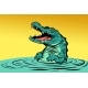 Green Crocodile Character - GraphicRiver Item for Sale