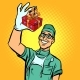 Dentist with a Gift New Tooth Implant - GraphicRiver Item for Sale