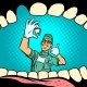 Mouth Without Tooth Joyful Dentist Male Doctor - GraphicRiver Item for Sale