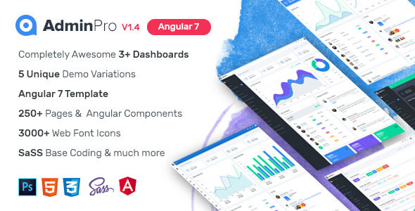 AdminPro Angular 7 Dashboard Template