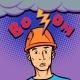 Surprised Male Helmet Professional Lightning - GraphicRiver Item for Sale