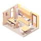 Vector Isometric Office Break Room - GraphicRiver Item for Sale