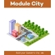 Colorful Isometric City - GraphicRiver Item for Sale