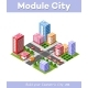 Town Districts of The City - GraphicRiver Item for Sale